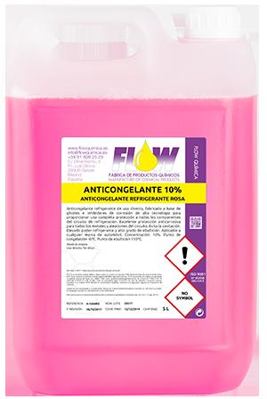 anticongelantes rosa 10%